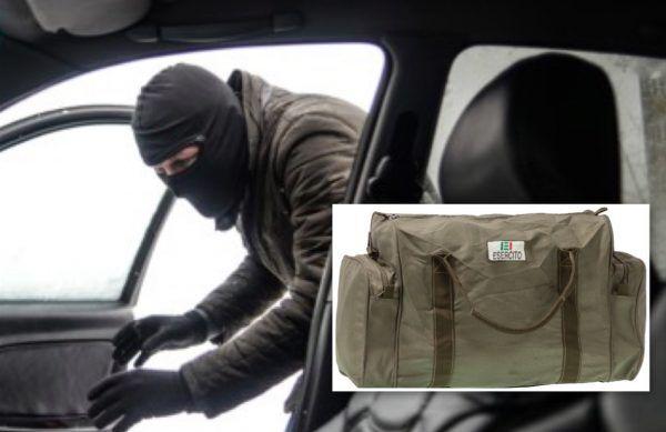 napoli furto borsa militare