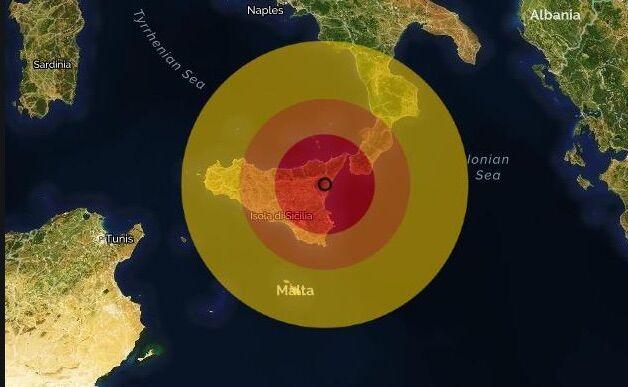 terremoto milo catania oggi 26 ottobre