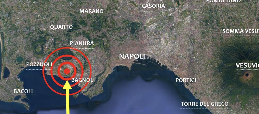 terremoto oggi 5 ottobre pozzuoli napoli