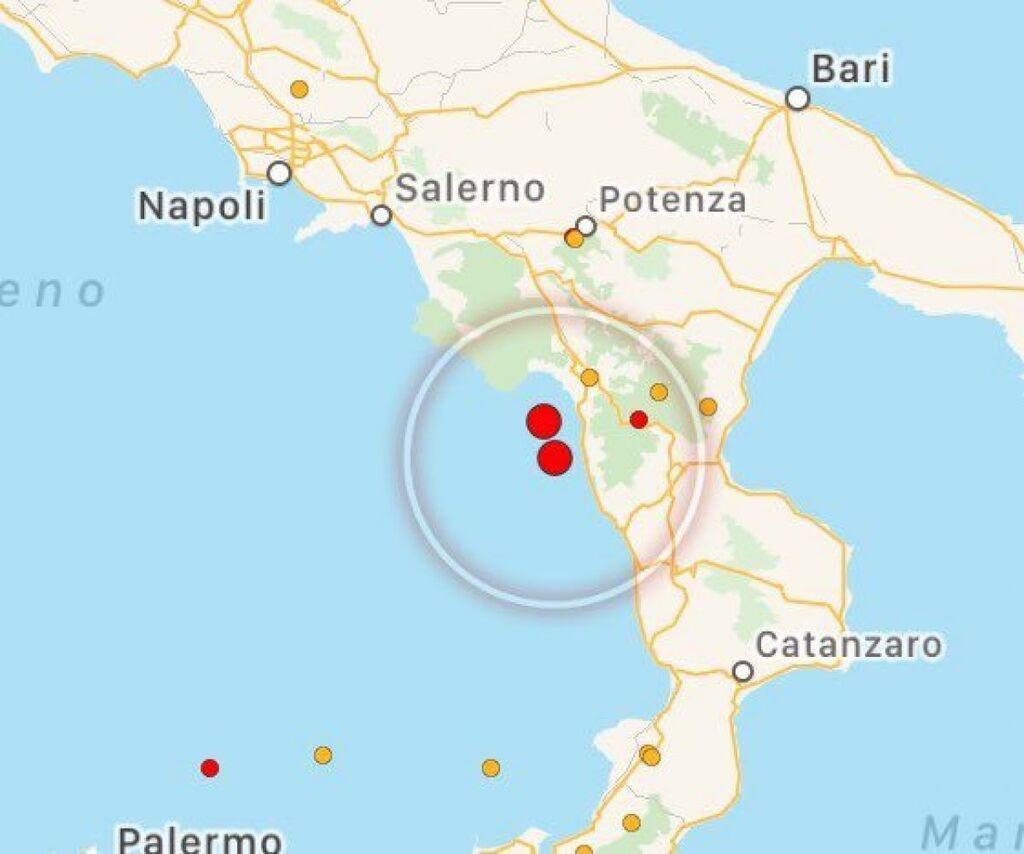 terremoto scalea calabria oggi 25 ottobre
