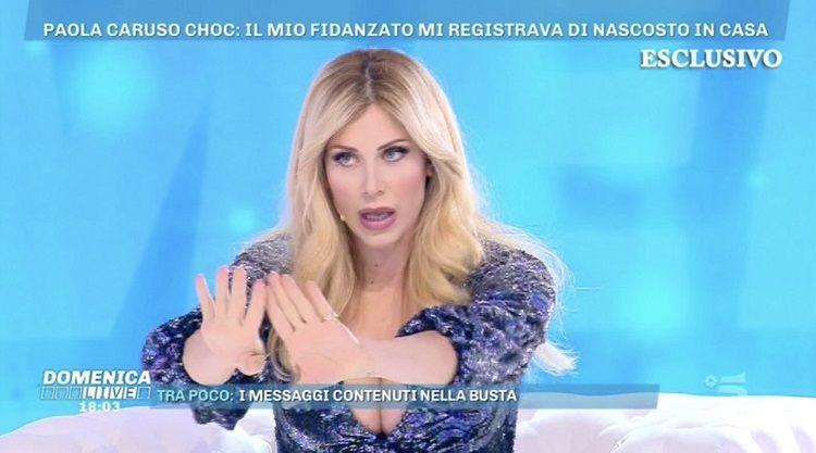 Paola Caruso, Domenica Live, Moreno Merlo, gossip