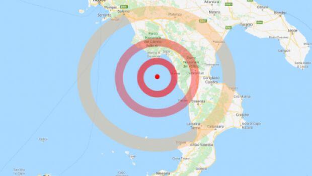 scossa di terremoto campania calabria 18 novembre