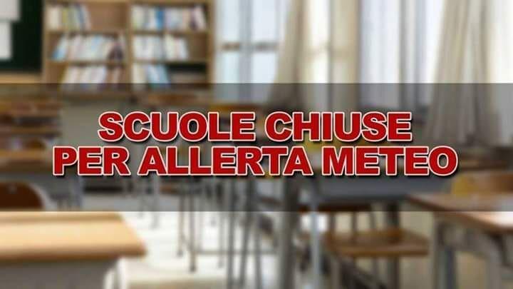 allerta meteo scuole chiuse