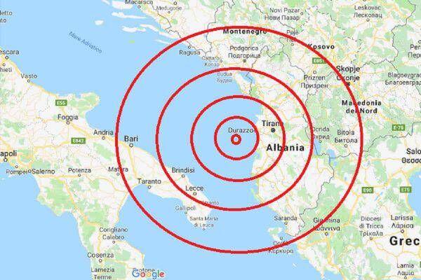 terremoto albania ora scosse 26 novembre