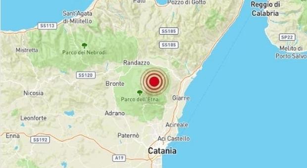 terremoto catania oggi