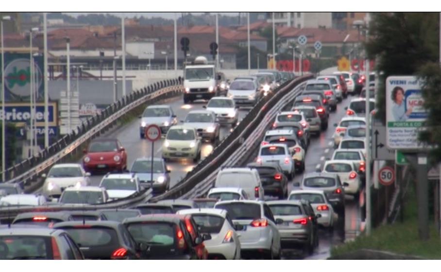 asse mediano circumvallazione esterna traffico 23 dicembre