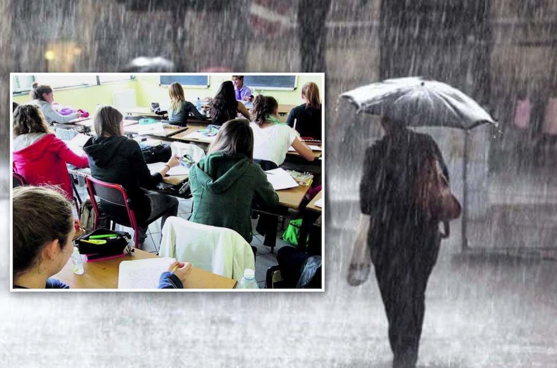 allerta meteo campania scuole chiuse