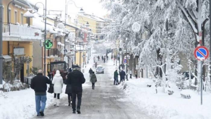 campania neve previsioni capodanno