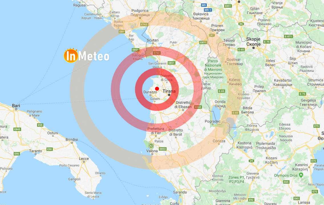 terremoto albania oggi