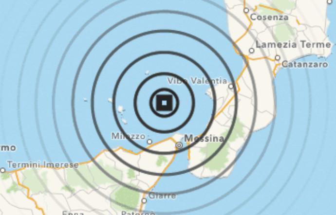 terremoto messina oggi