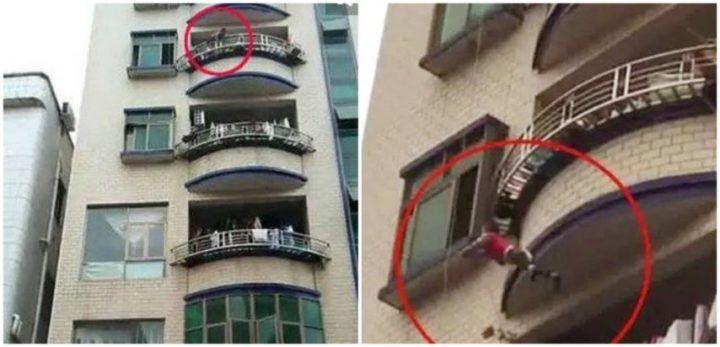 frosinone bimbo precipita balcone