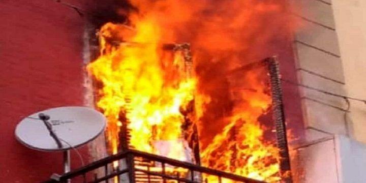 siracusa incendio casa morta