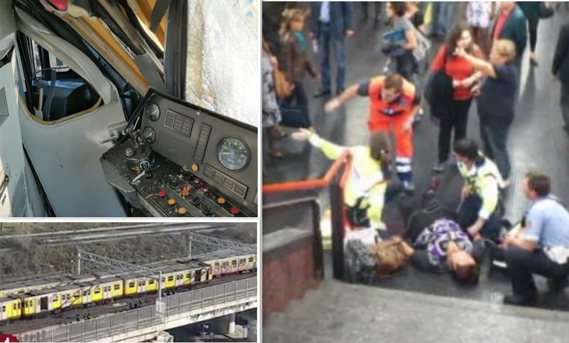 incidente metro napoli feriti