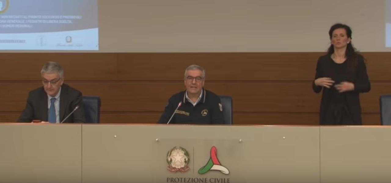 Diretta Protezione Civile 7 aprile streaming