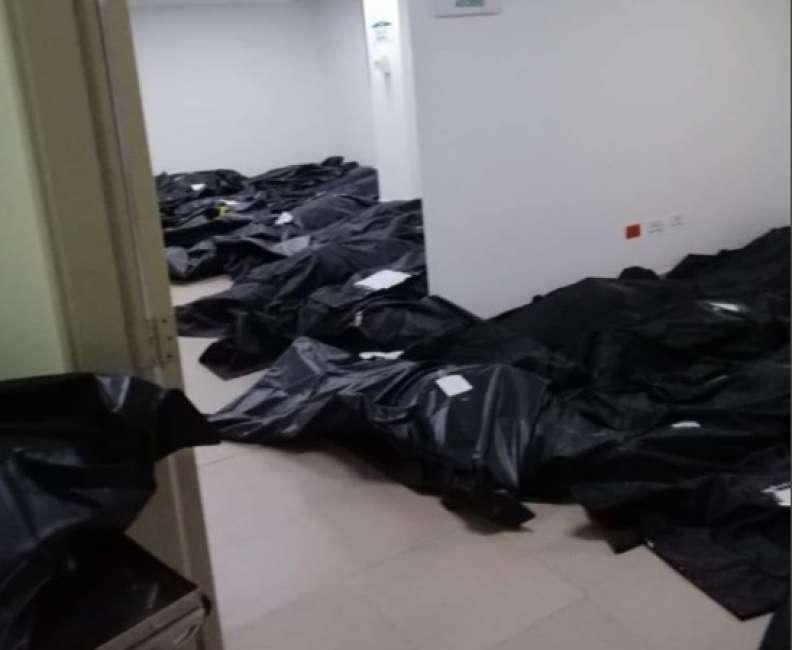 Cadaveri sacchi neri Bergamo