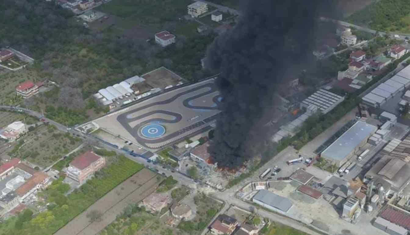 Ottaviano incendio fabbrica