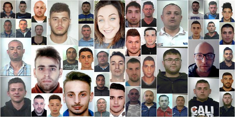 foto nomi clan brunetto arresti giarre catania