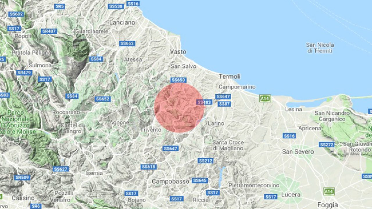 terremoto Montecilfone Molise