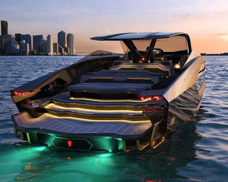 Tecnmar lamborghini yacht