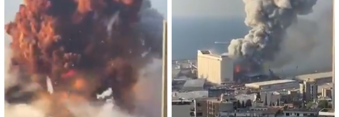 Due esplosioni a Beirut