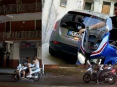 Antonio fiaccolata moto