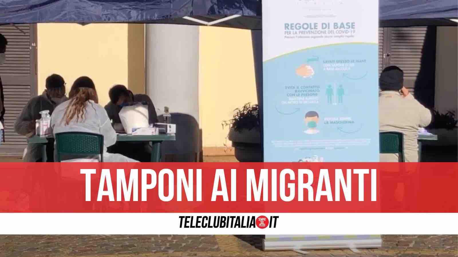 tamponi migranti giugliano