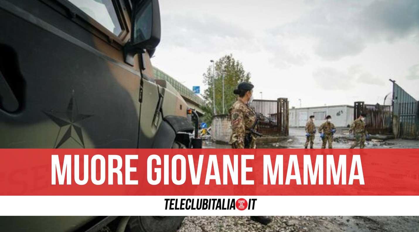 mamma muore campo rom
