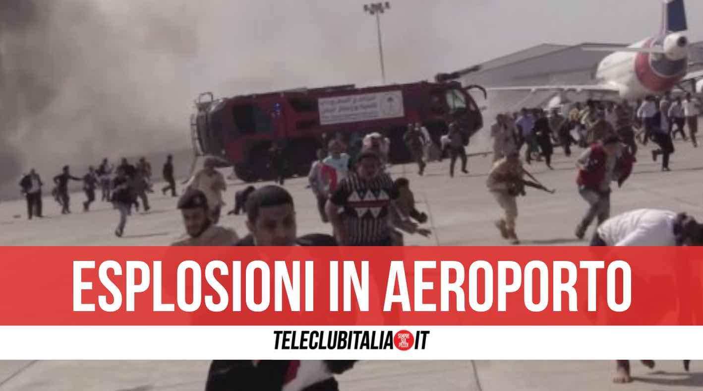 yemen aeroporto esplosioni morti