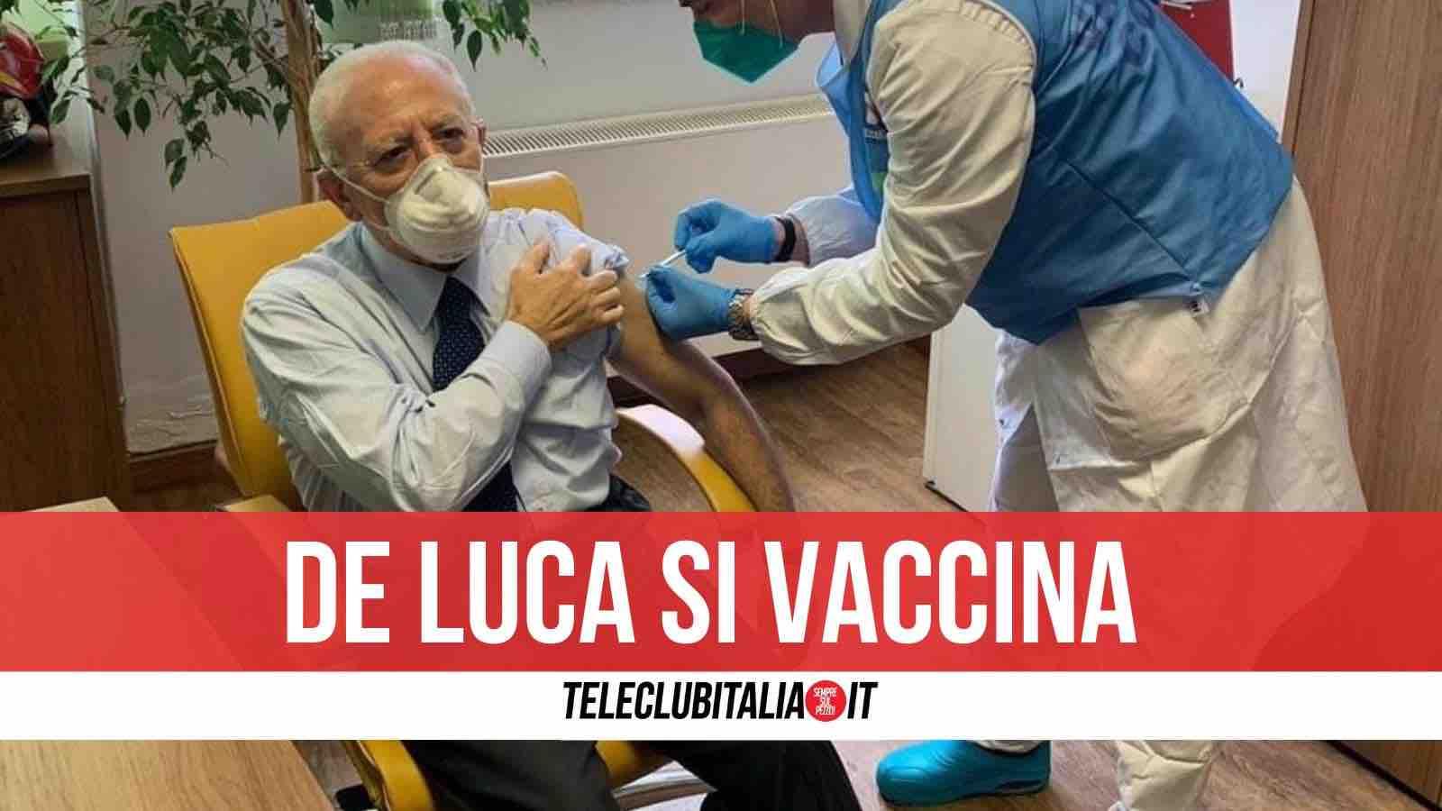 de luca vaccino