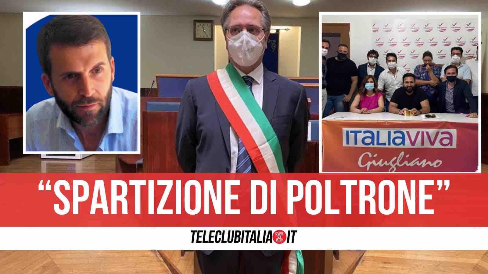 polemiche giunta giugliano italia viva conte