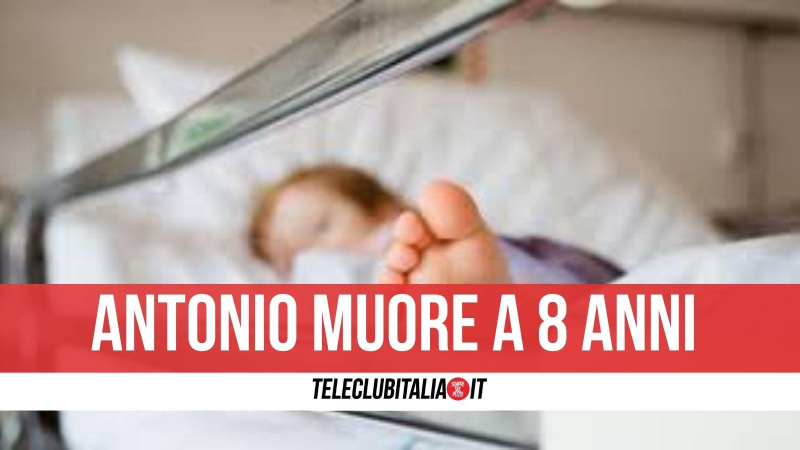 arienzo bimbo morto 8 anni