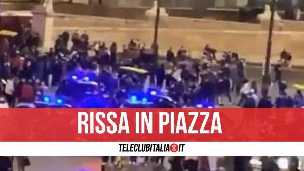 Roma rissa piazza del popolo