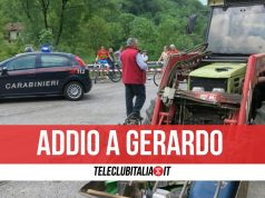 gerardo cimmino morto trattore incidente sessa aurunca