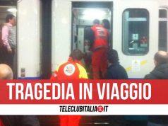 morto napoli roma treno villa literno