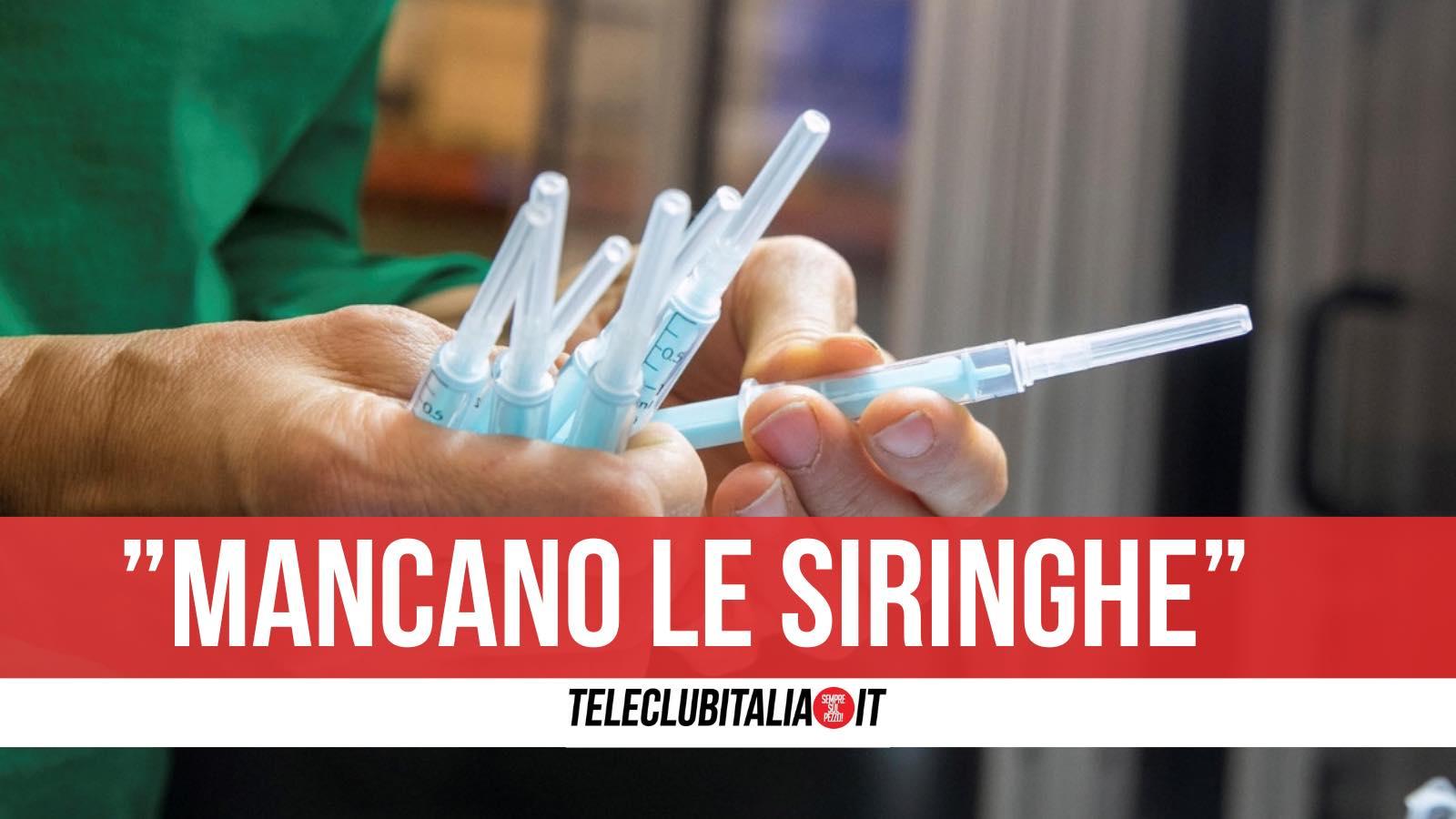siringhe benevento ospedale vaccino covid