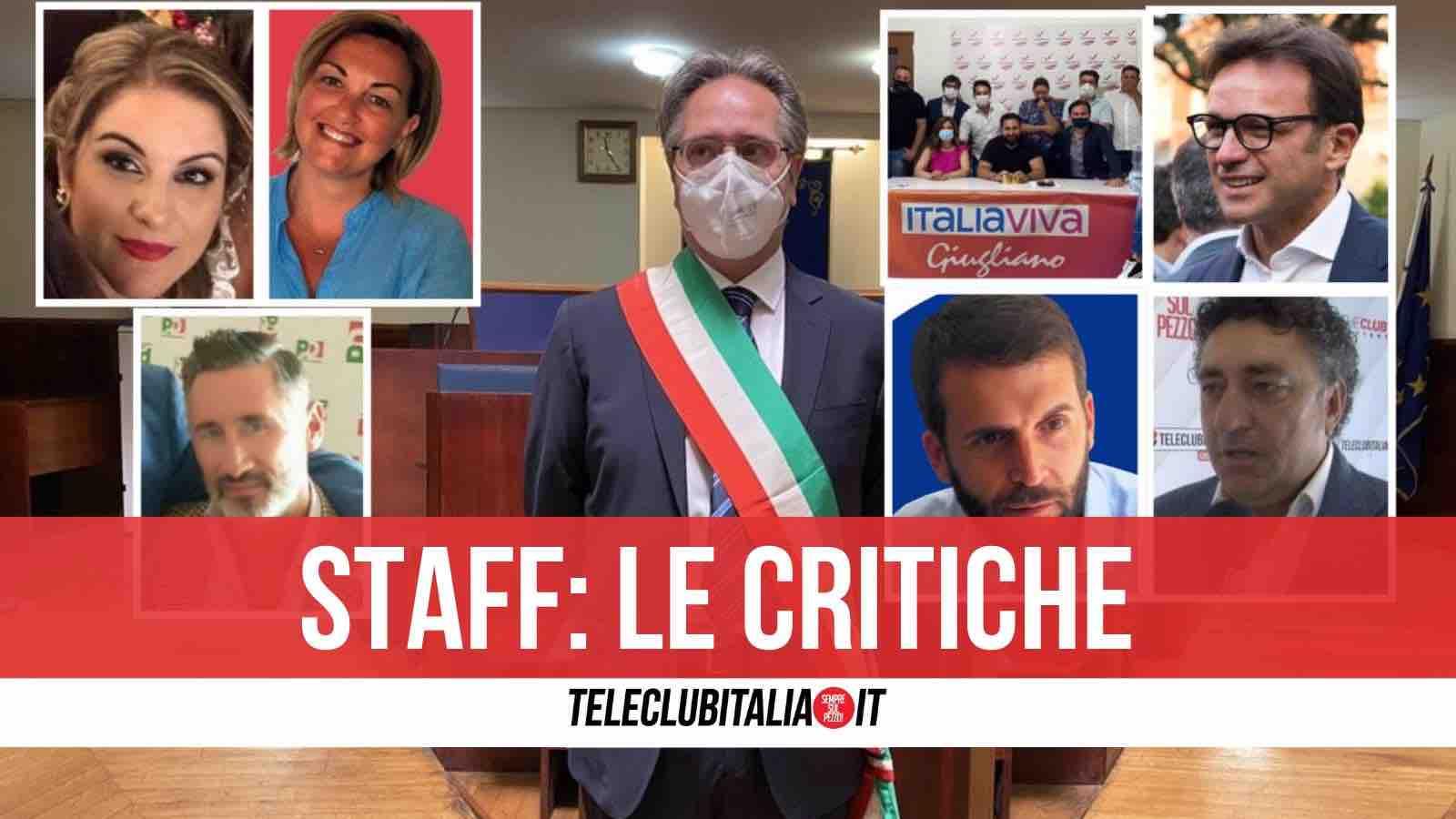 staff giugliano reazioni politiche