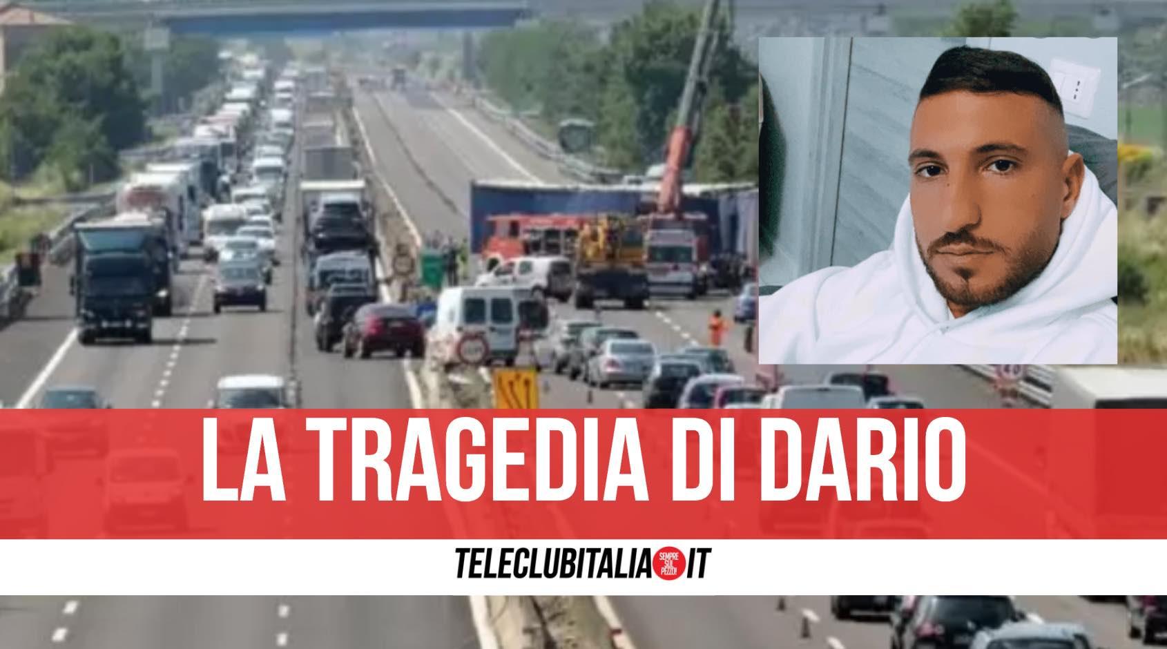 incidente autostrada morto dario Dario Cecoro
