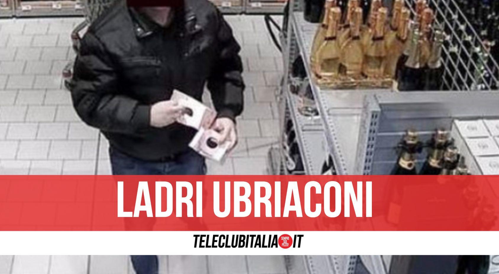 napoli furto supermercato liquori