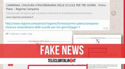 Campania, scuole chiuse solo per 3 giorni: la fake news che sta girando su chat e social