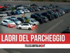 arresti ladri auto parcheggio campania