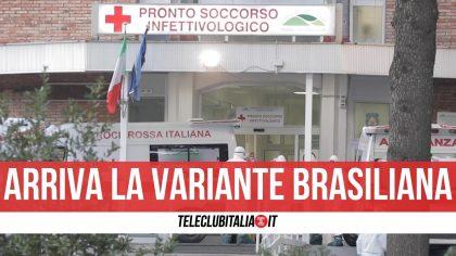 Campania, identificati i primi due casi di variante brasiliana. Ricoverati al Cotugno