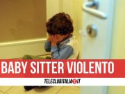 guidonia bimbo picchiato baby sitter
