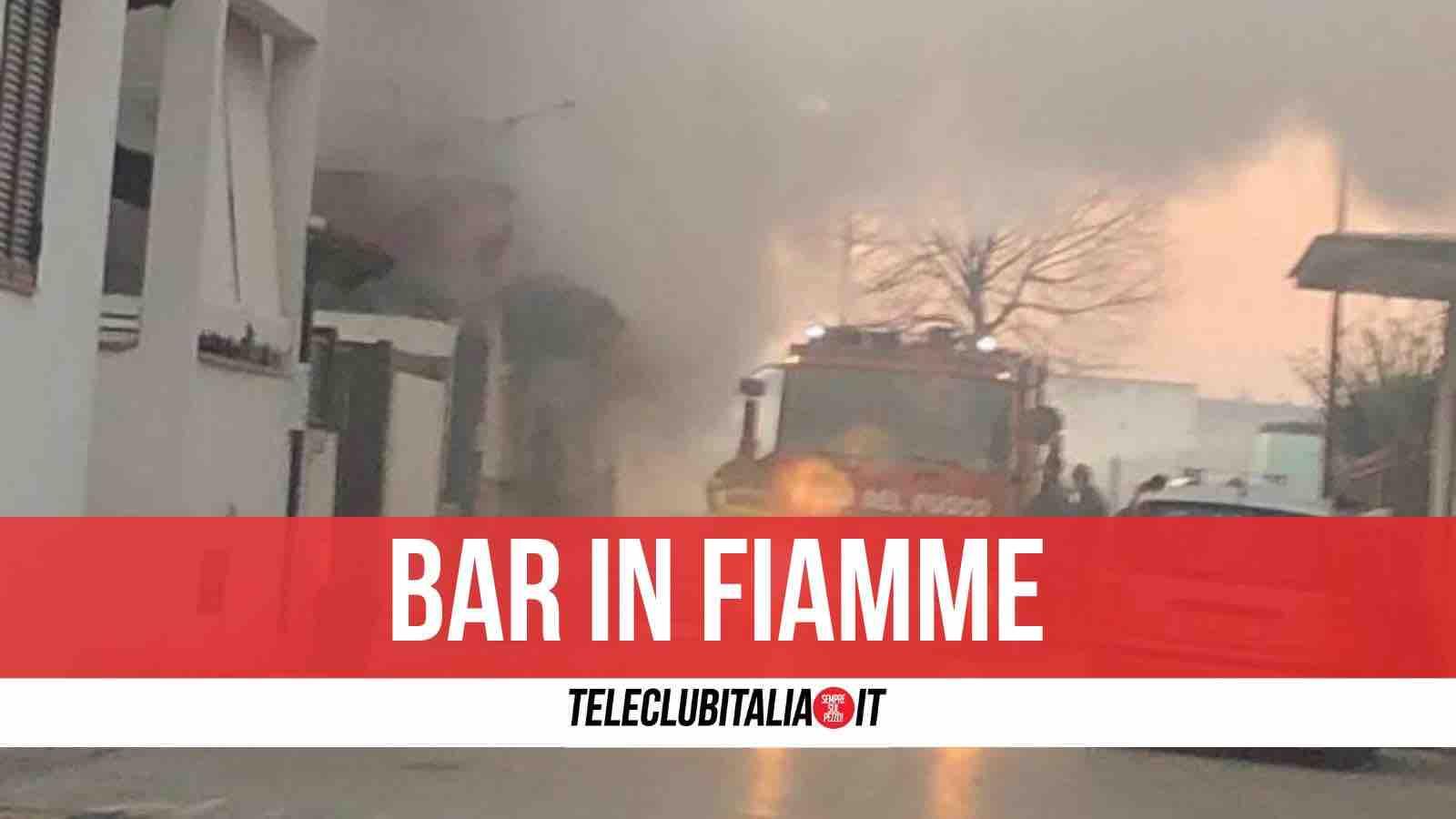 incendio bar parete