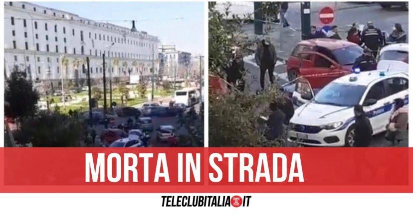 piazza carlo iii morta in strada infarto