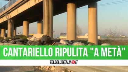 """Casoria/Afragola: Cantariello ripulita dall'immondizia, ma solo """"a metà"""""""
