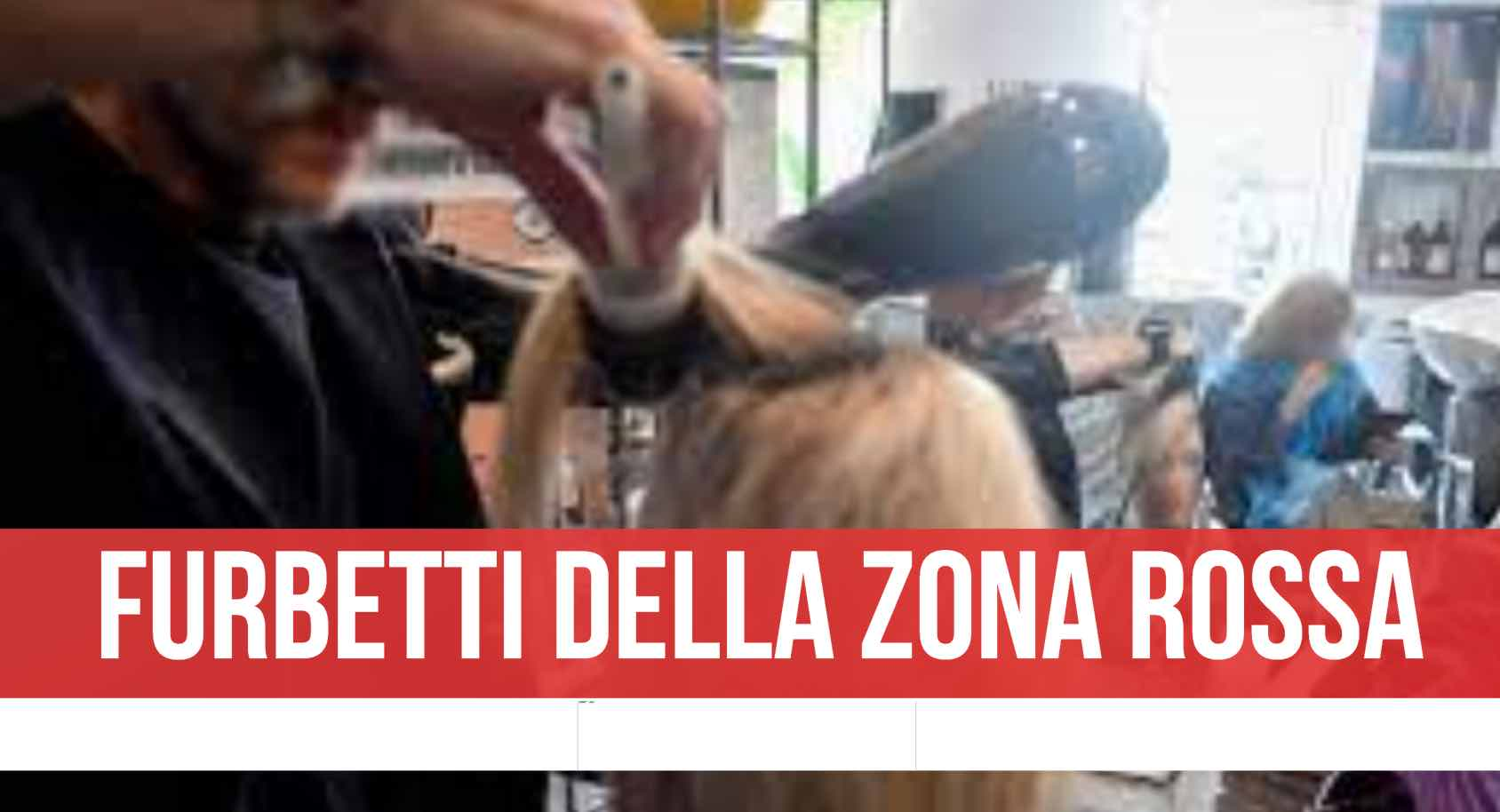 parrucchiere chiuso polizia
