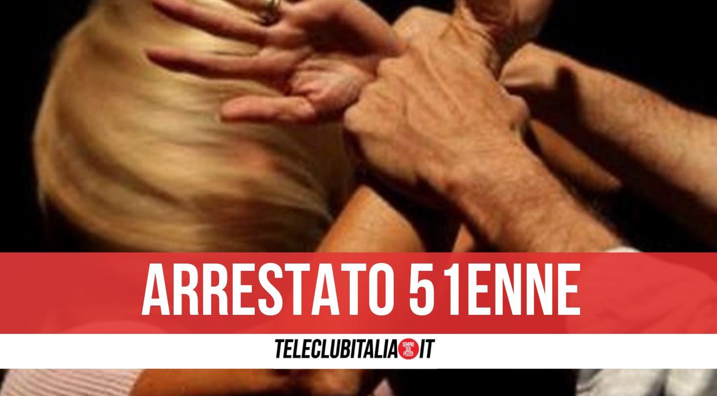 arresto napoli marito violento