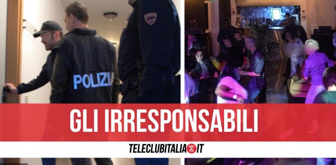 festa abusiva hotel polizia