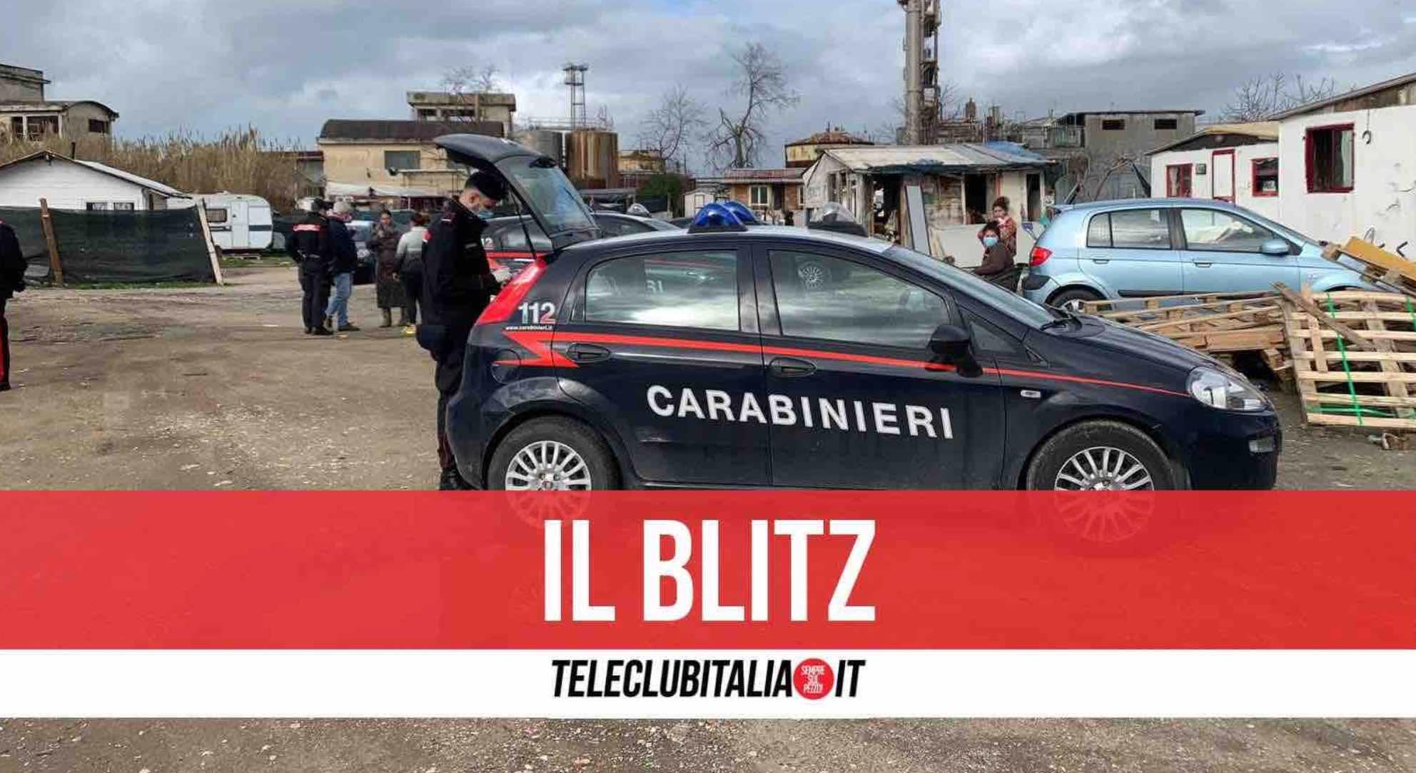 giugliano carabinieri campo rom