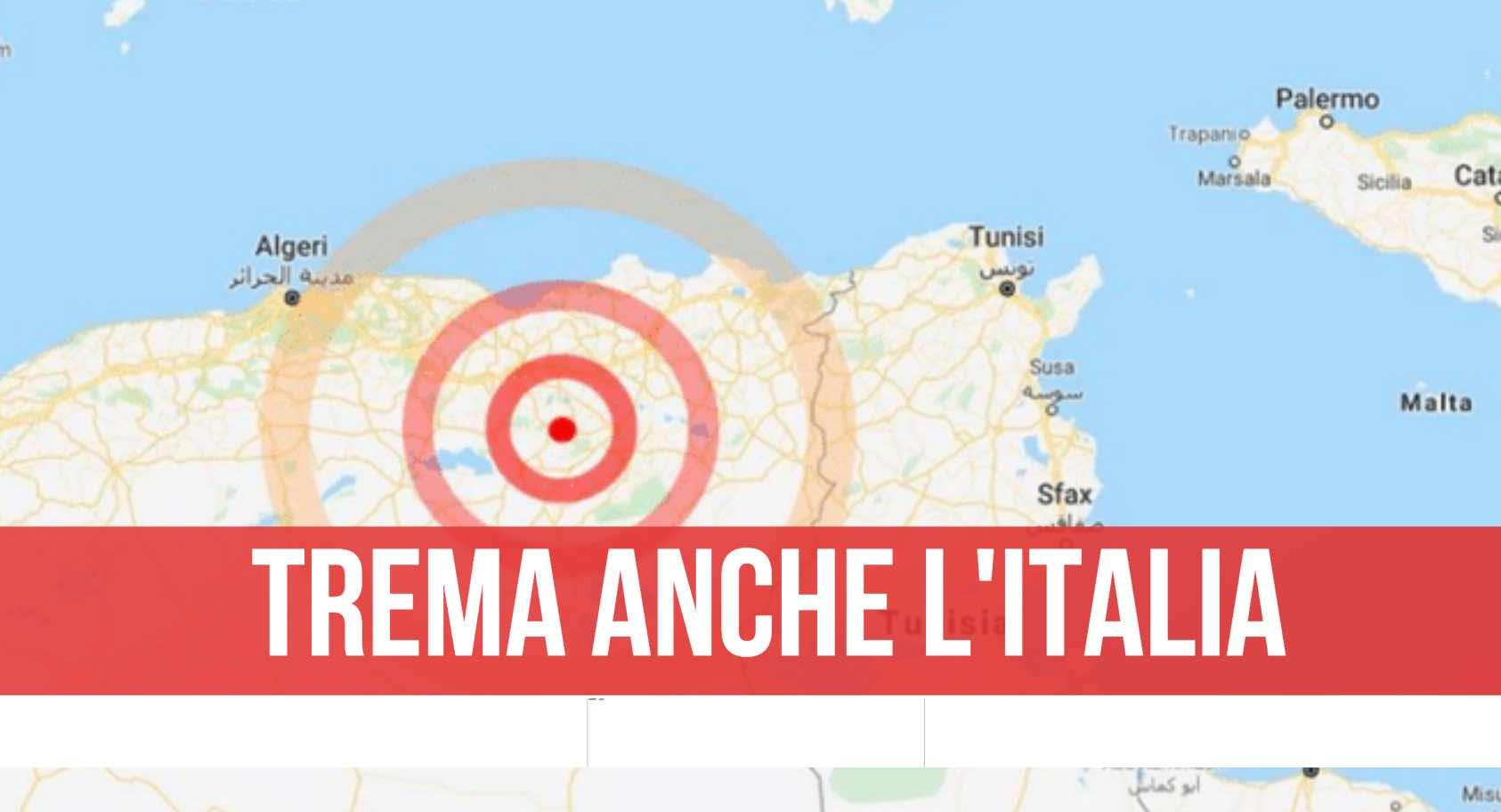 scossa terremoto algeria